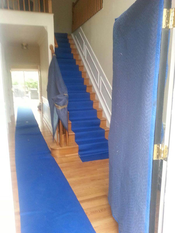 Moving Protections for Floor and Staircase